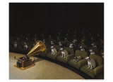 His Master&#39;s Voice Posters by Michael Sowa