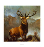 Monarque du vallon Affiches par Edwin Henry Landseer