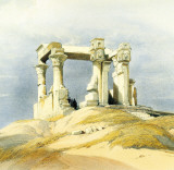 Temple of Wady Kardassy Posters by David Roberts