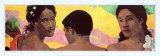 Tre tahitiani Poster di Paul Gauguin