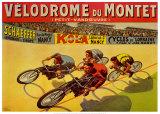 Velodromo di Montet, in francese Poster di Marcellin Auzolle