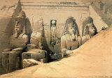 Tempel von Abou Simbel Poster von David Roberts