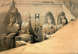 Temple of Abou Simbel Art by David Roberts
