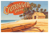 Outrigger Inn, Hawaii Prints
