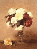 Roses in a Vase Posters by Henri Fantin-Latour