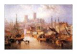 La Brayford et cathédrale de Lincoln Affiches par John Wilson Carmichael