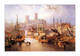 The Brayford Pool and Lincoln Cathedral Prints by John Wilson Carmichael