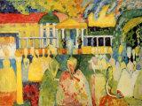 Damas en miriñaque Lámina por Wassily Kandinsky