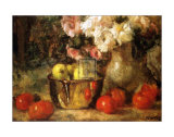 Still Life with Fruits and Flowers Art by Jean Laudry
