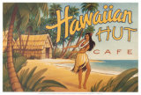 Hawaiian Hut Cafe Poster