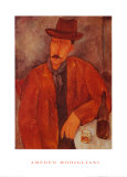 Seated Man Leaning on a Table Prints by Amedeo Modigliani