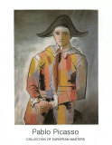 Harlequin with Folded Hands, c.1923 Posters by Pablo Picasso