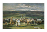 In the Saddling Paddock, March Meet Posters af Alfred James Munnings