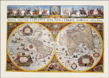 World Map Prints by Willem Janszoon Blaeu