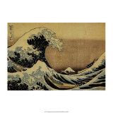 A Grande Onda em Kanagawa, da série 36 vistas do Mount Fuji, cerca de 1829 Posters por Katsushika Hokusai
