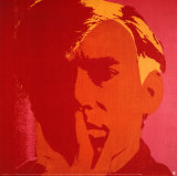 Self Portrait in Orange Collectable Print by Andy Warhol