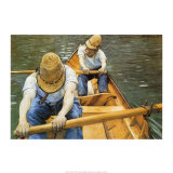 Oarsmen Print by Gustave Caillebotte
