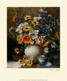 Sunflowers and Daisies Prints by F. Janca