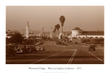Westwood Village, West Los Angeles, California, 1937 Poster