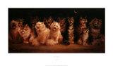 Cat's Chorus Posters by L. Wain