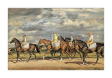 Exercising, Early Morning, Newmarket Posters af Alfred James Munnings
