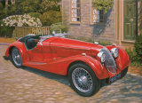Riley Red Roadster Affischer av David Bailey