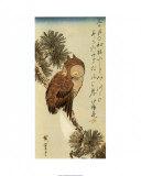 Zonder titel, springend paard Poster van Ando Hiroshige