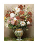 Dahlias dans Un Pot Empire Art by Marcel Dyf