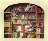 Trompe l'Oeil of a Bookcase Prints