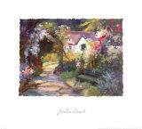 Garden Bench Print by Dawna Barton
