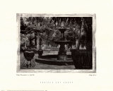 Patio Fountain in Seville Prints by  Augustine (Joseph Grassia)