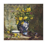 Yellow Roses Prints by Del Gish