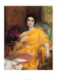 Portrait of Elsa, Daughter of William Hall, Esq. Art by Frank Bernard Dicksee