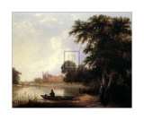 Fishing on the River Thames Near Eton Print by Thomas Creswick