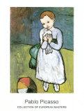 Niña con paloma, 1901 Láminas por Pablo Picasso