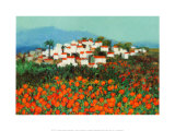 Majocar, Andalucia Prints by Hazel Barker