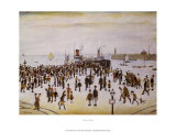 Ferry Boats Poster by Laurence Stephen Lowry