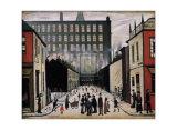 Street Scene Kunstdrucke von Laurence Stephen Lowry