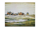 Landscape with Farm Buildings Print by Laurence Stephen Lowry