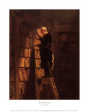 The Bookworm Print by Carl Spitzweg