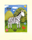 Zara the Zebra Poster by Sophie Harding
