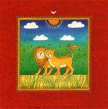 Lions Prints by L. Edwards