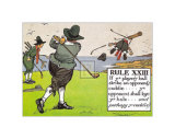 Rules of Golf, Rule XXIII Posters by C. Crombie