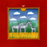 Zebras Prints by L. Edwards