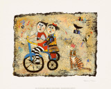 Bicycle Built for Two Art by Barbara Olsen