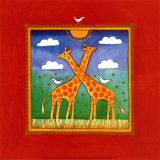 Giraffe Poster by L. Edwards