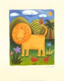 Léo le lion Posters par Sophie Harding