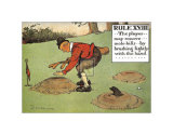 Rules of Golf, Rule XVIII Prints by C. Crombie