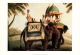 Indian Elephants II Prints by  Indian School
