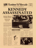 Historic Headlines - Kennedy Assassinated Poster London Herald, Nov 22, 1963